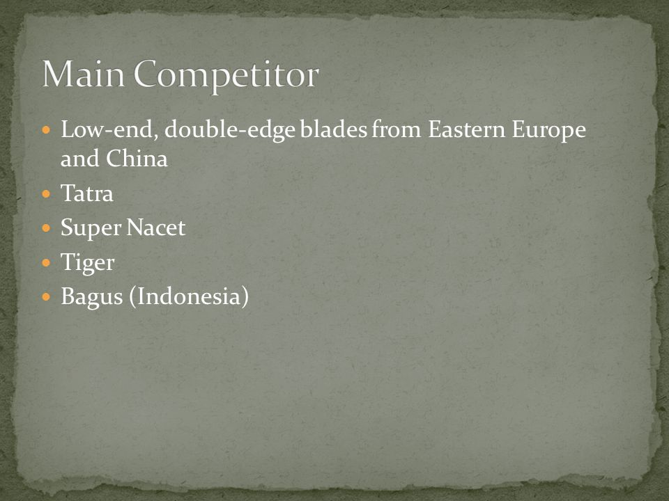  Low-end, double-edge blades from Eastern Europe and China  Tatra  Super Nacet  Tiger  Bagus (Indonesia)