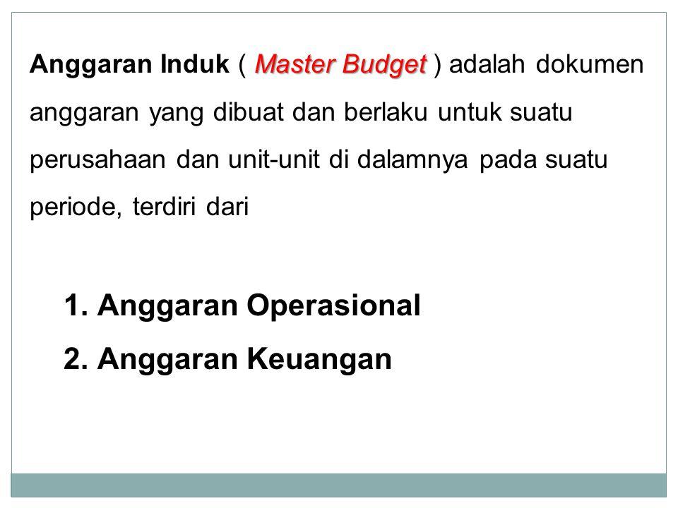 Master Budget Anggaran Induk ( Master Budget ) adalah dokumen anggaran yang dibuat dan berlaku untuk suatu perusahaan dan unit-unit di dalamnya pada s