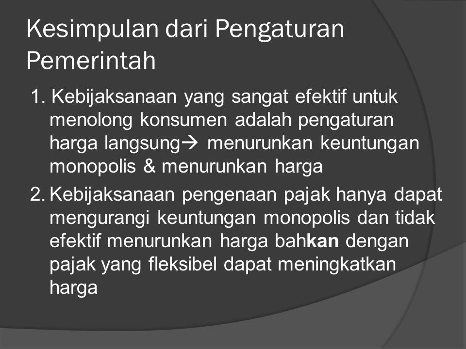 Kesimpulan dari Pengaturan Pemerintah 1.
