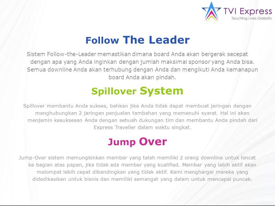 Sistem Follow-the-Leader memastikan dimana board Anda akan bergerak secepat dengan apa yang Anda inginkan dengan jumlah maksimal sponsor yang Anda bis