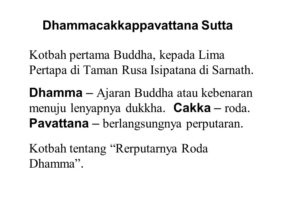 Jalan Ariya Berunsur Delapan 7.Pemahaman Benar - To understand and accept Empat Kebenaran Mulia.