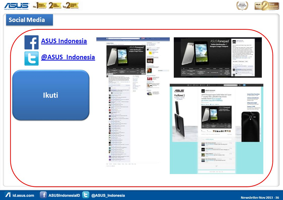 Newsletter Nov 2013 -36 ASUS Indonesia @ASUS_Indonesia Social Media Ikuti