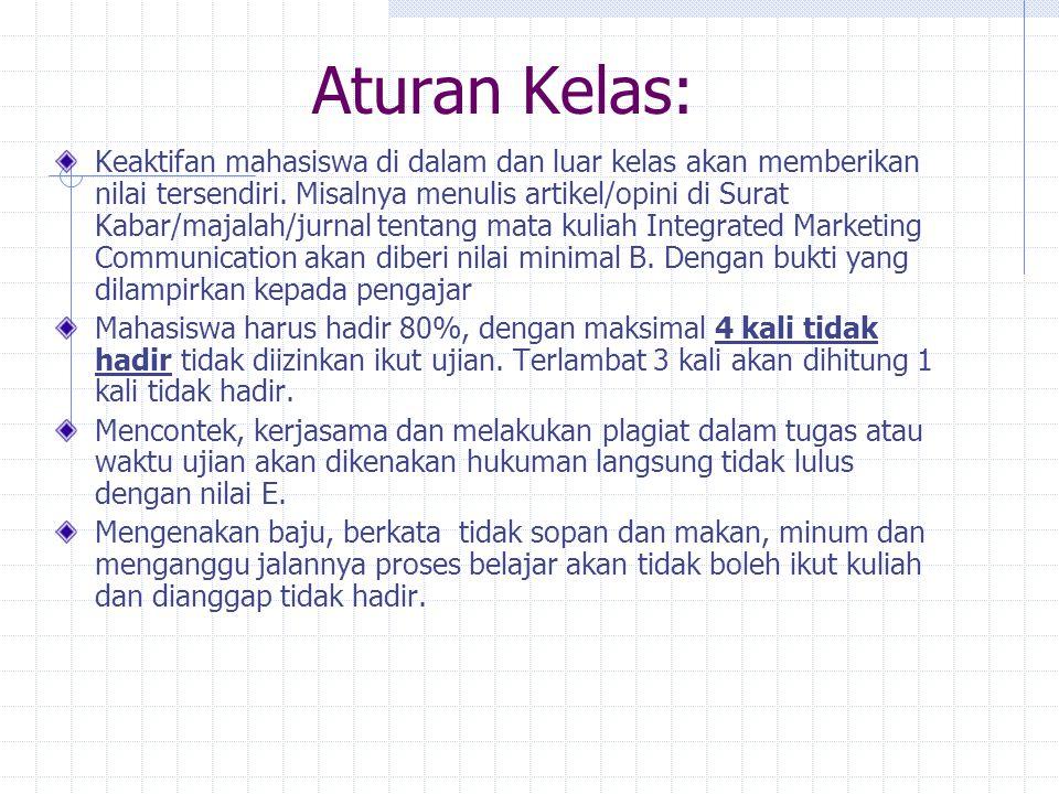 Bibliografi/Tinjauan Pustaka Prisgunanto, Ilham. Komunikasi Pemasaran: Strategi dan Taktik. Jakarta: Ghalia Indonesia, 2006. Pickton, David and Broder