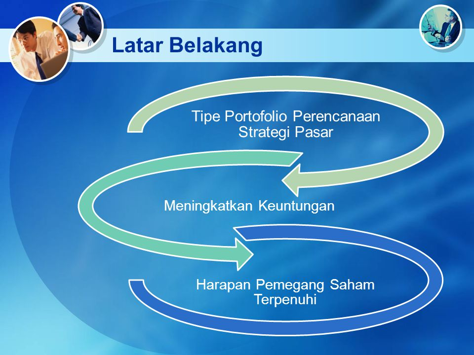 Latar Belakang Tipe Portofolio Perencanaan Strategi Pasar Meningkatkan Keuntungan Harapan Pemegang Saham Terpenuhi