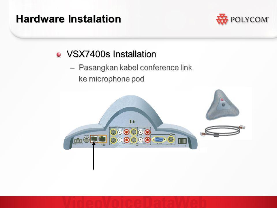 Hardware Instalation VSX7400s Installation –Pasangkan kabel conference link ke microphone pod