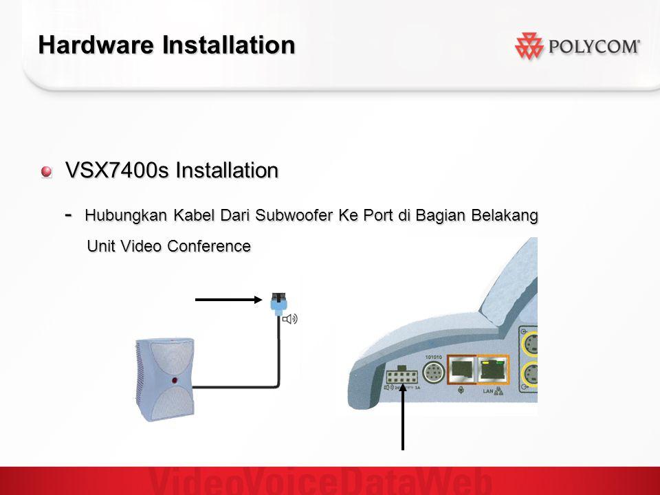 Hardware Installation VSX7400s Installation - Hubungkan Kabel Dari Subwoofer Ke Port di Bagian Belakang - Hubungkan Kabel Dari Subwoofer Ke Port di Ba