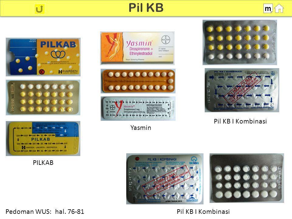 100% Pil KB m Pedoman WUS: hal. 76-81 PILKAB Yasmin Pil KB I Kombinasi