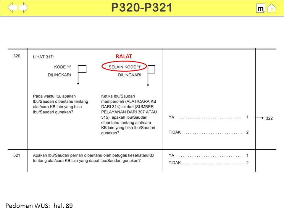 100% SDKI 2012 P320-P321 m Pedoman WUS: hal. 89 RALAT