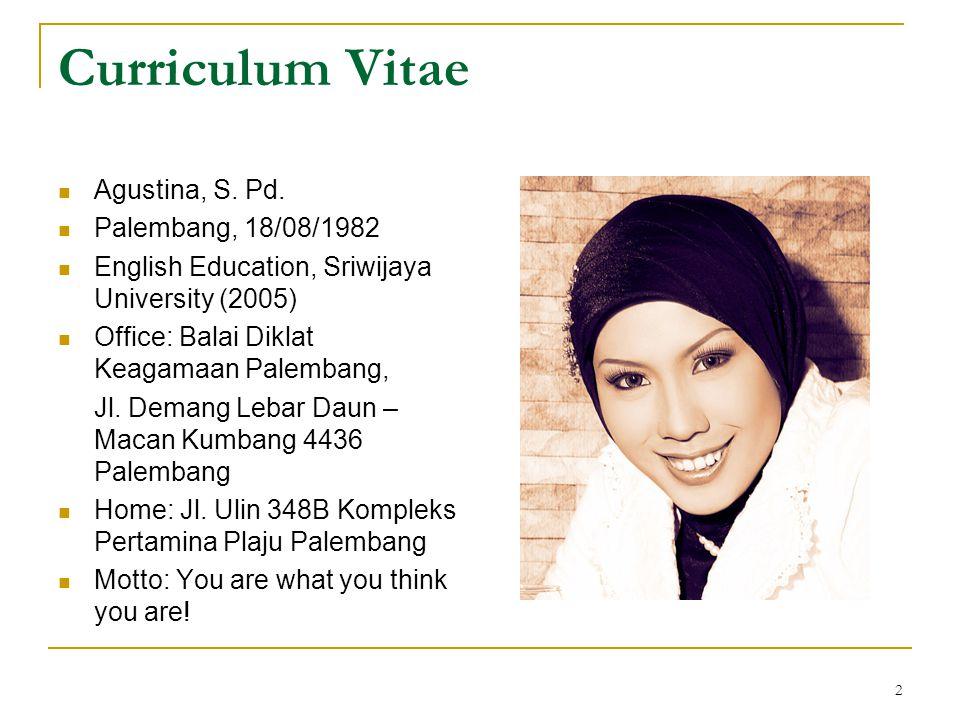 2 Curriculum Vitae  Agustina, S.Pd.