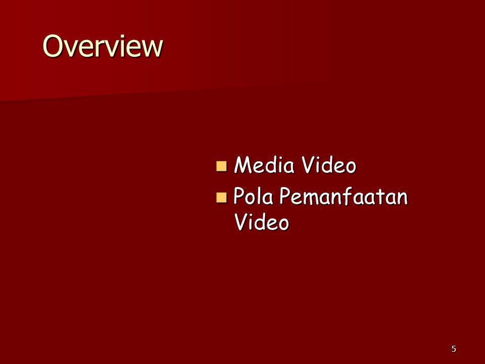 5 Overview  Media Video  Pola Pemanfaatan Video