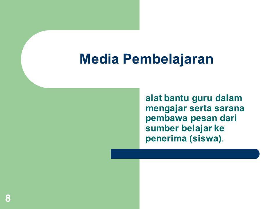 7 Media = Pengantar, Perantara Sumber informasi Penerima