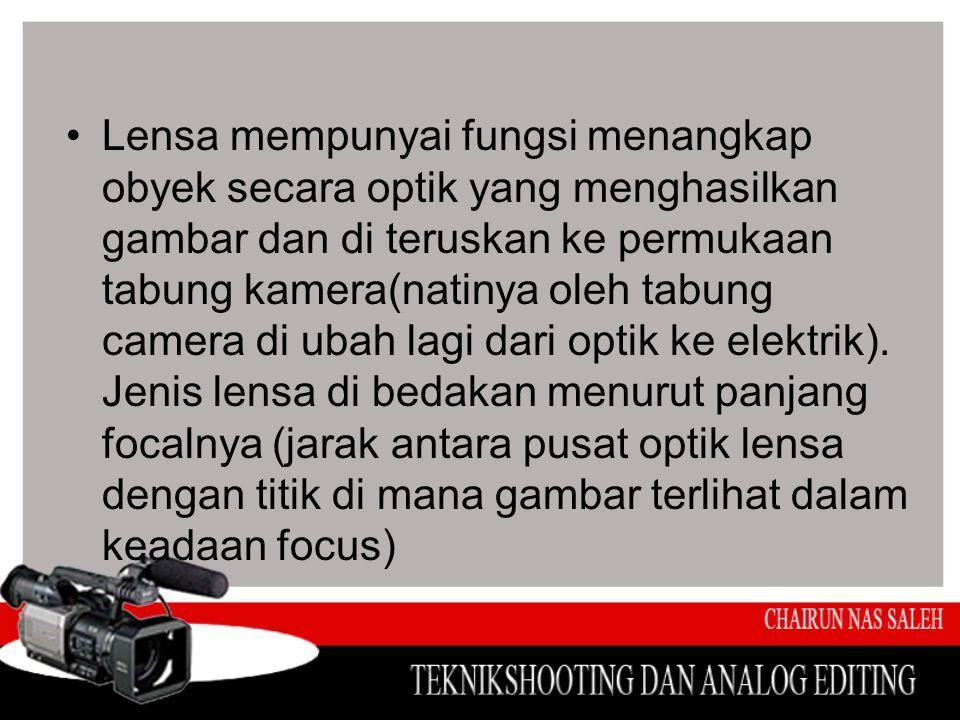 Focus •Focus adalah pengaturan lensa yang tepat untuk jarak tertentu.