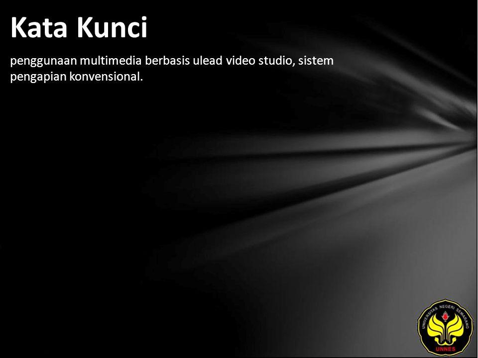 Kata Kunci penggunaan multimedia berbasis ulead video studio, sistem pengapian konvensional.