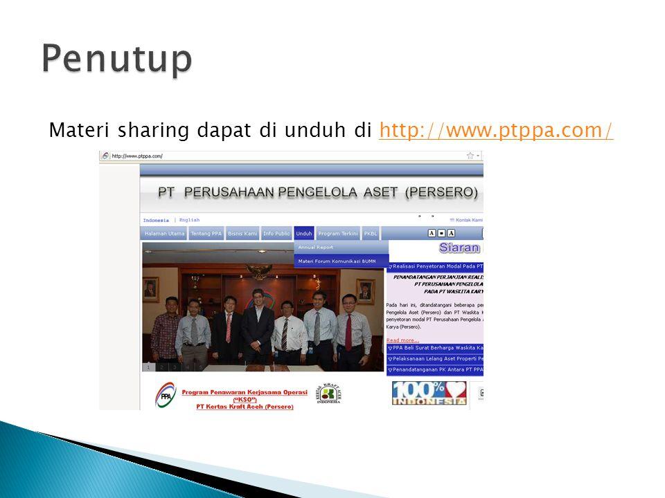Materi sharing dapat di unduh di http://www.ptppa.com/http://www.ptppa.com/