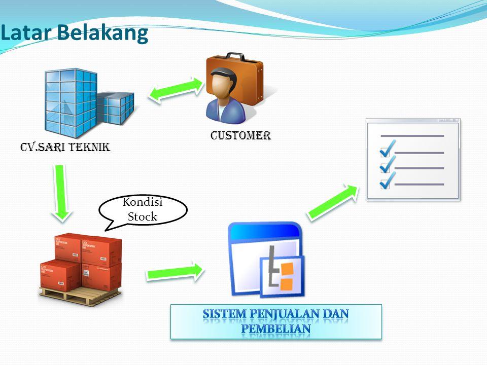 Latar Belakang CV.SARI TEKNIK customer Kondisi Stock