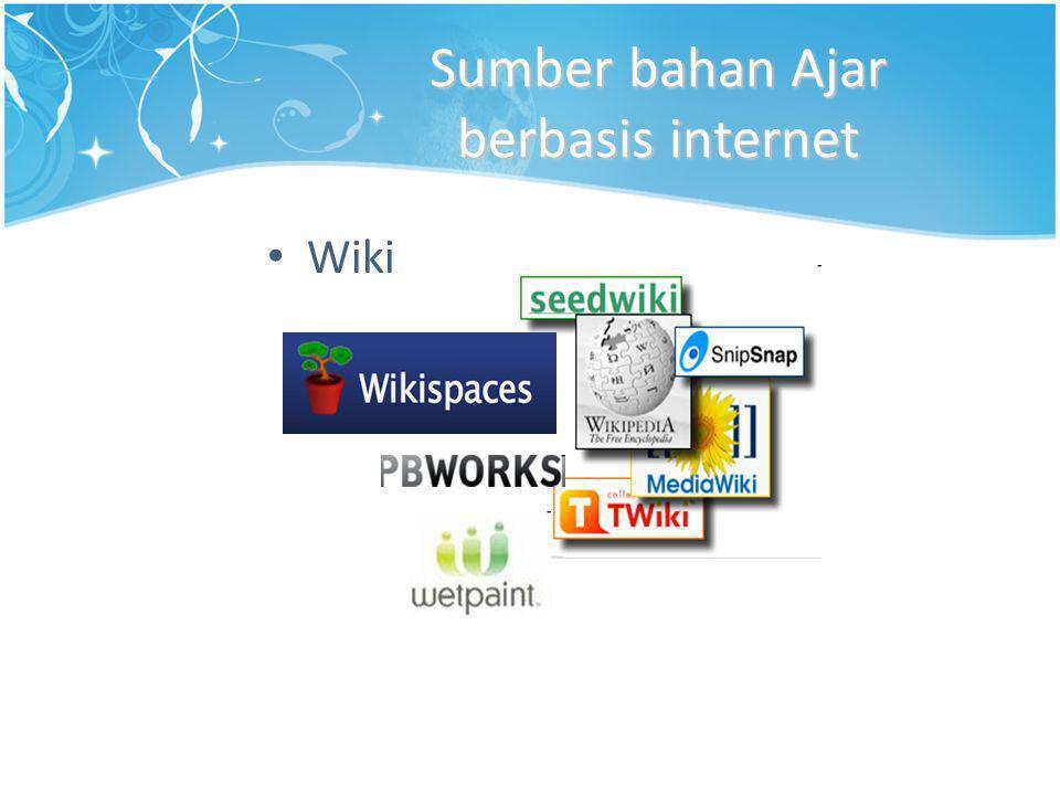 Sumber bahan Ajar berbasis internet • Wiki