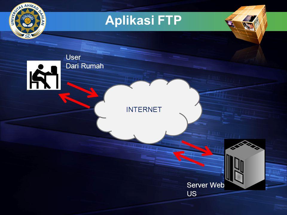 Aplikasi FTP INTERNET User Dari Rumah Server Web US