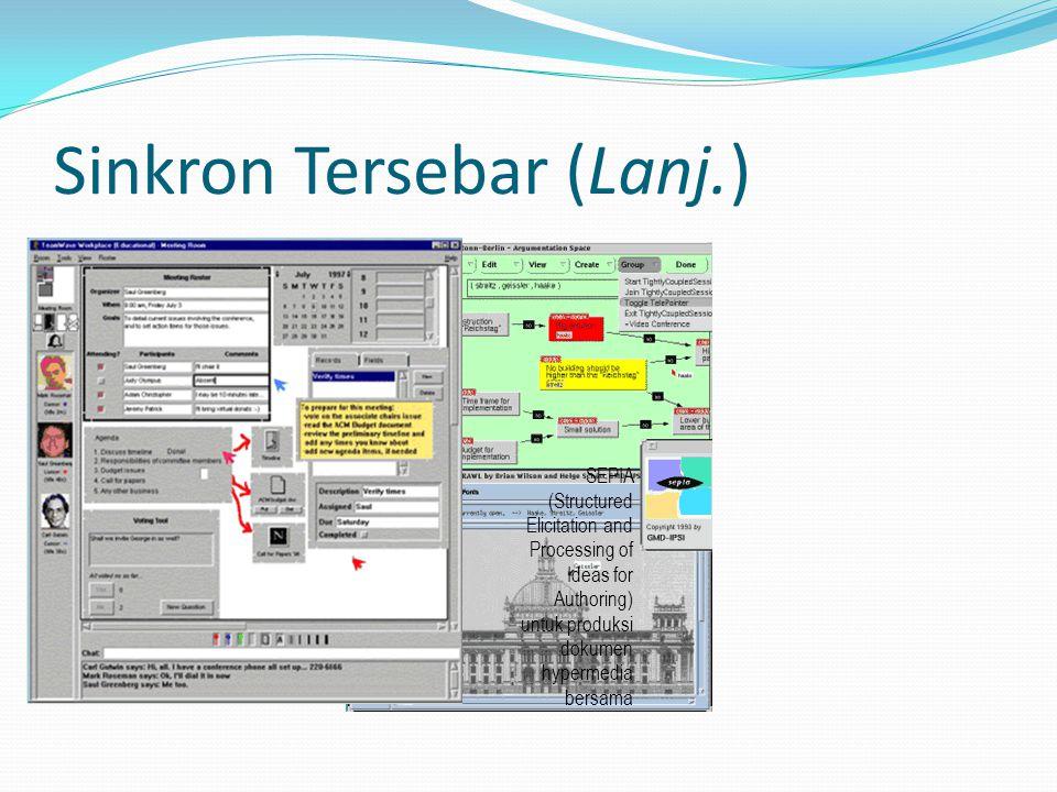 Sinkron Tersebar (Lanj.) SEPIA (Structured Elicitation and Processing of Ideas for Authoring) untuk produksi dokumen hypermedia bersama