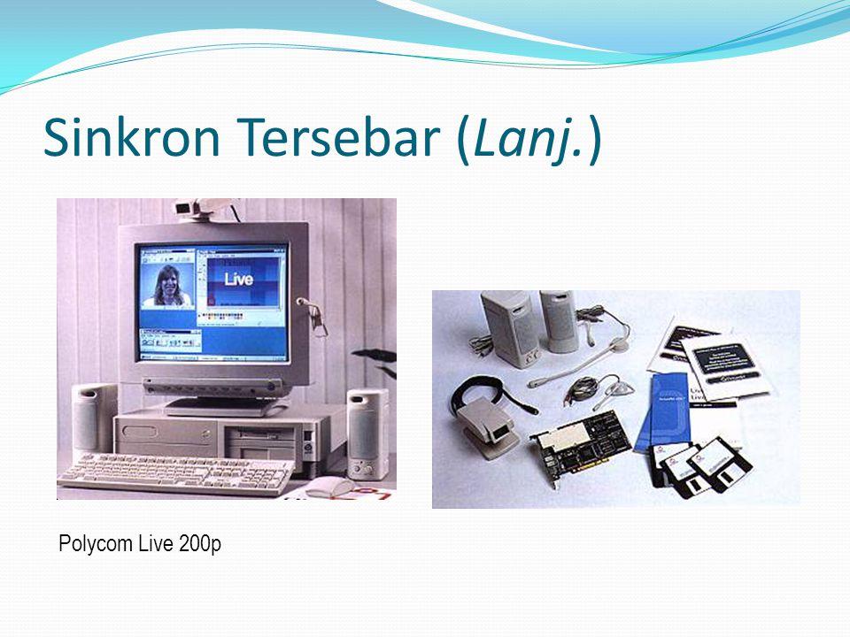 Sinkron Tersebar (Lanj.) Polycom Live 200p