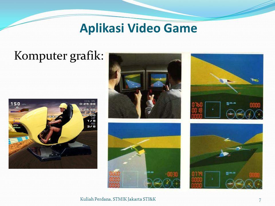 8Kuliah Perdana, STMIK Jakarta STI&K Simulasi penerbangan :