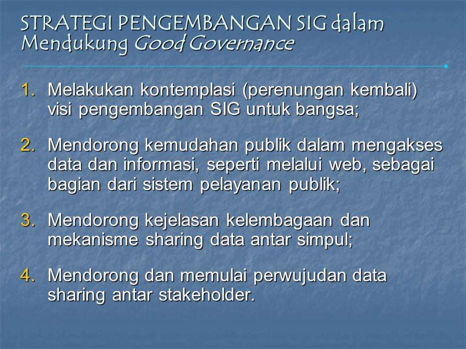  SIG di Indonesia masih berkembang pada level data input, sementara data modelling masih tertinggal jauh.