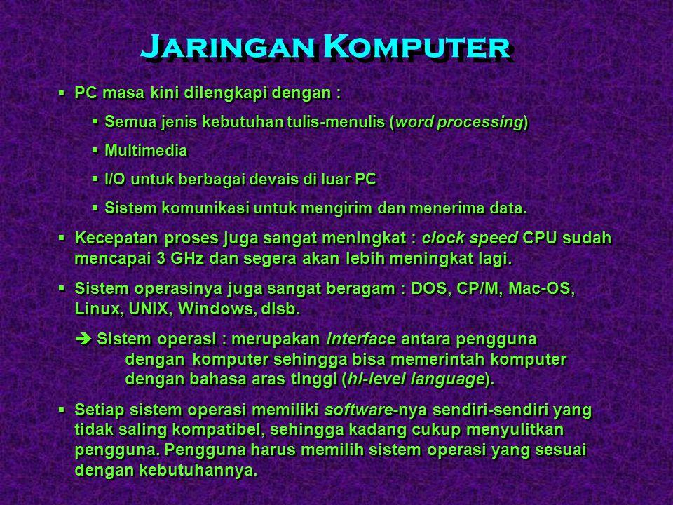  Tahun 1980-an, lahir Commodore PET dan tahun 1981 Adam Osborne (seorang jurnalis) memperkenalkan Osborne-I yang menggunakan sistem operasi CP/M.  P