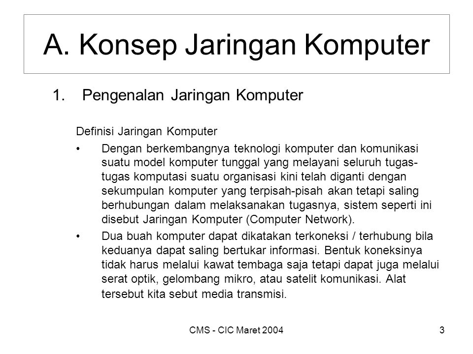 CMS - CIC Maret 20044 A.