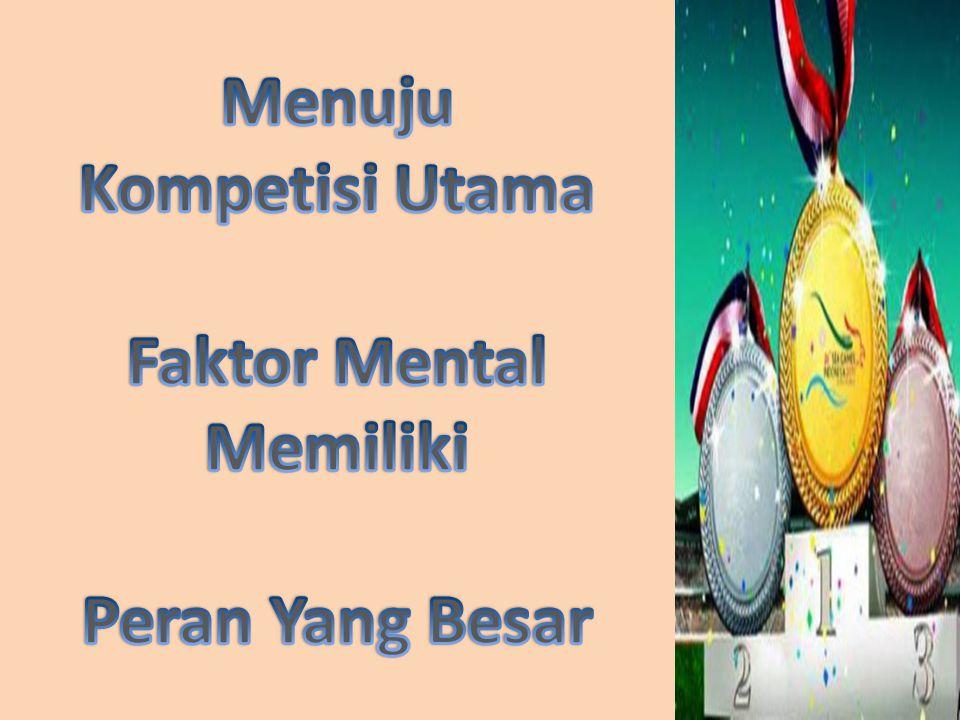 Mental skills menuju SEAG 2013 Tuliskan rencana kegiatan anda OktoberNovember Desember Viisualisasi & Imagery teknik Imagery kompetisi terbaik Imagery kondisi pertandingan dll.