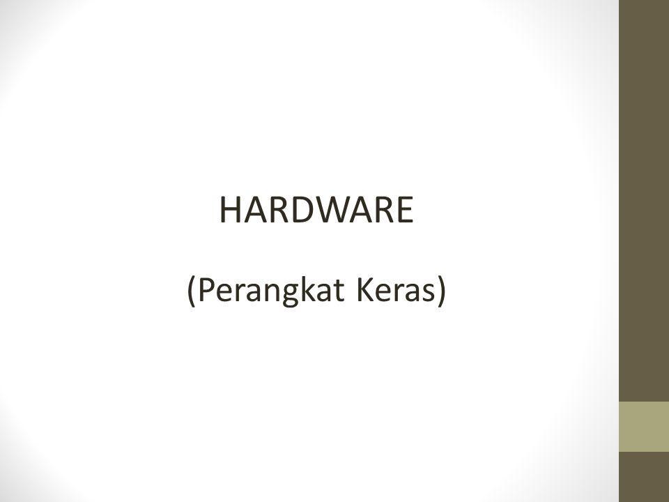 Komponen Perangkat keras : 1.alat masukan (input devices) 2.alat pemroses (processing devices) 3.