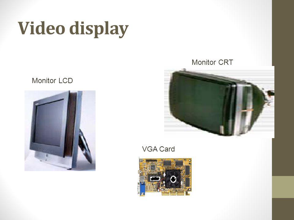 Video display Monitor LCD Monitor CRT VGA Card