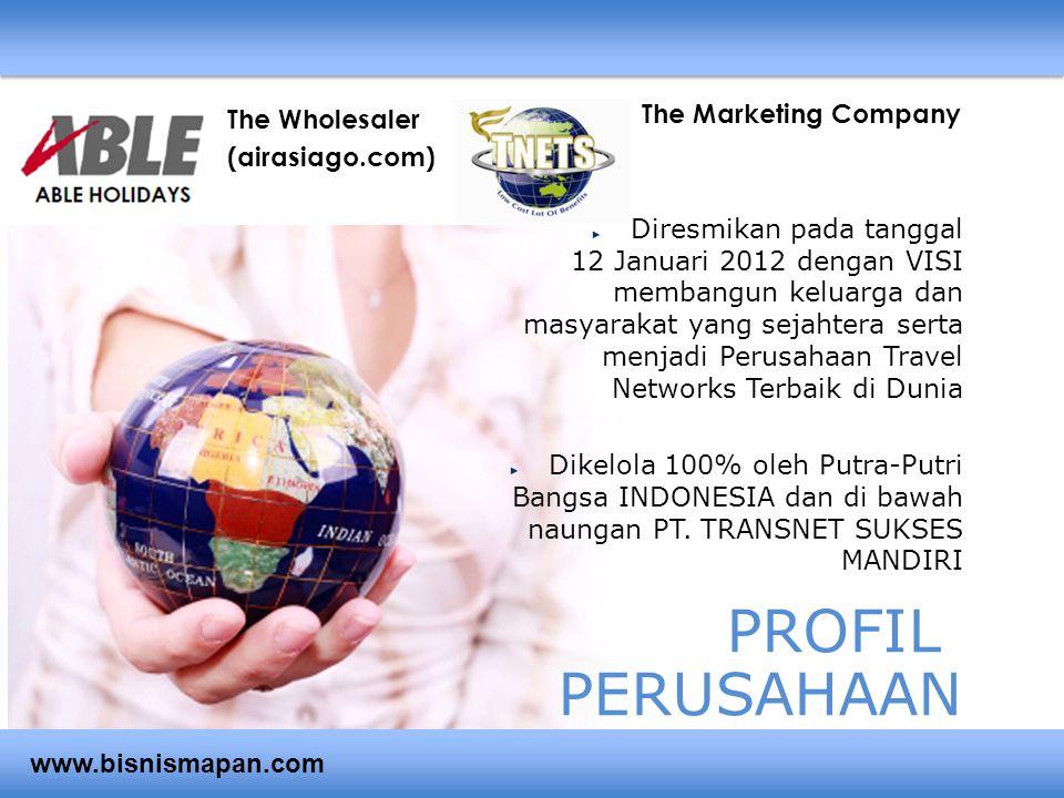 PROFIL PERUSAHAAN Diresmikan pada tanggal 12 Januari 2012 dengan VISI membangun keluarga dan masyarakat yang sejahtera serta menjadi Perusahaan Travel