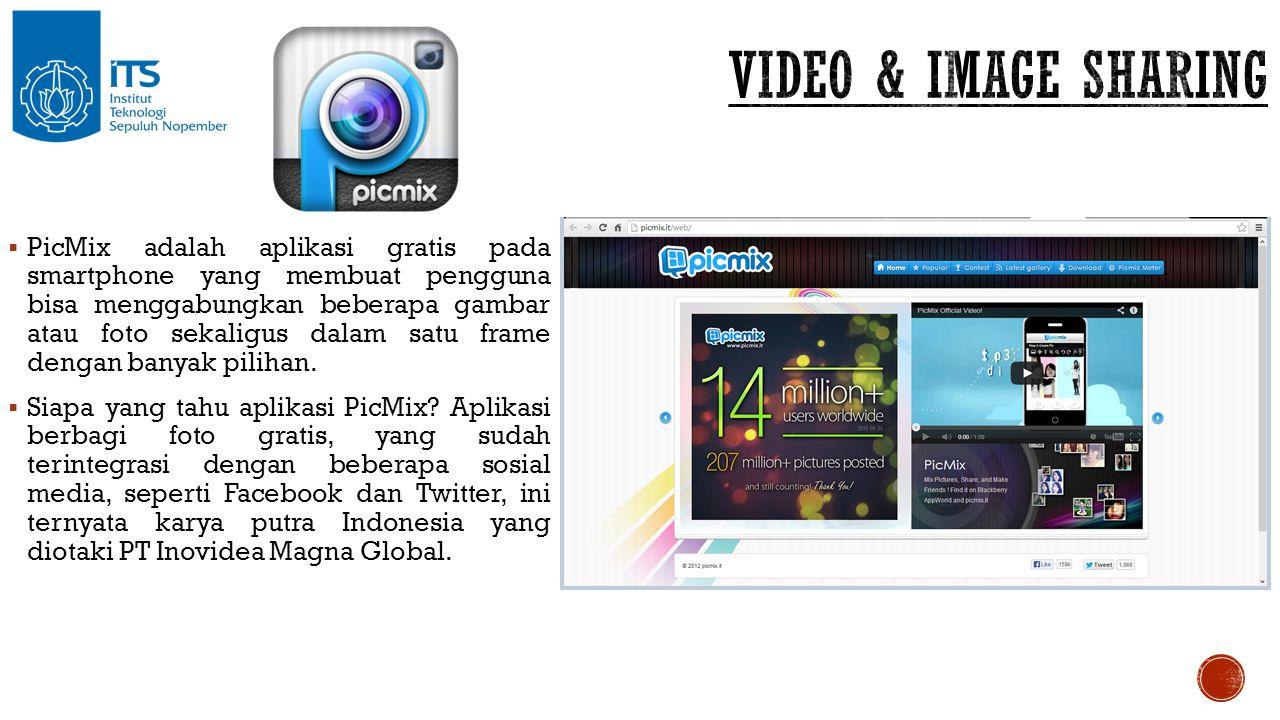  PicMix adalah aplikasi gratis pada smartphone yang membuat pengguna bisa menggabungkan beberapa gambar atau foto sekaligus dalam satu frame dengan b