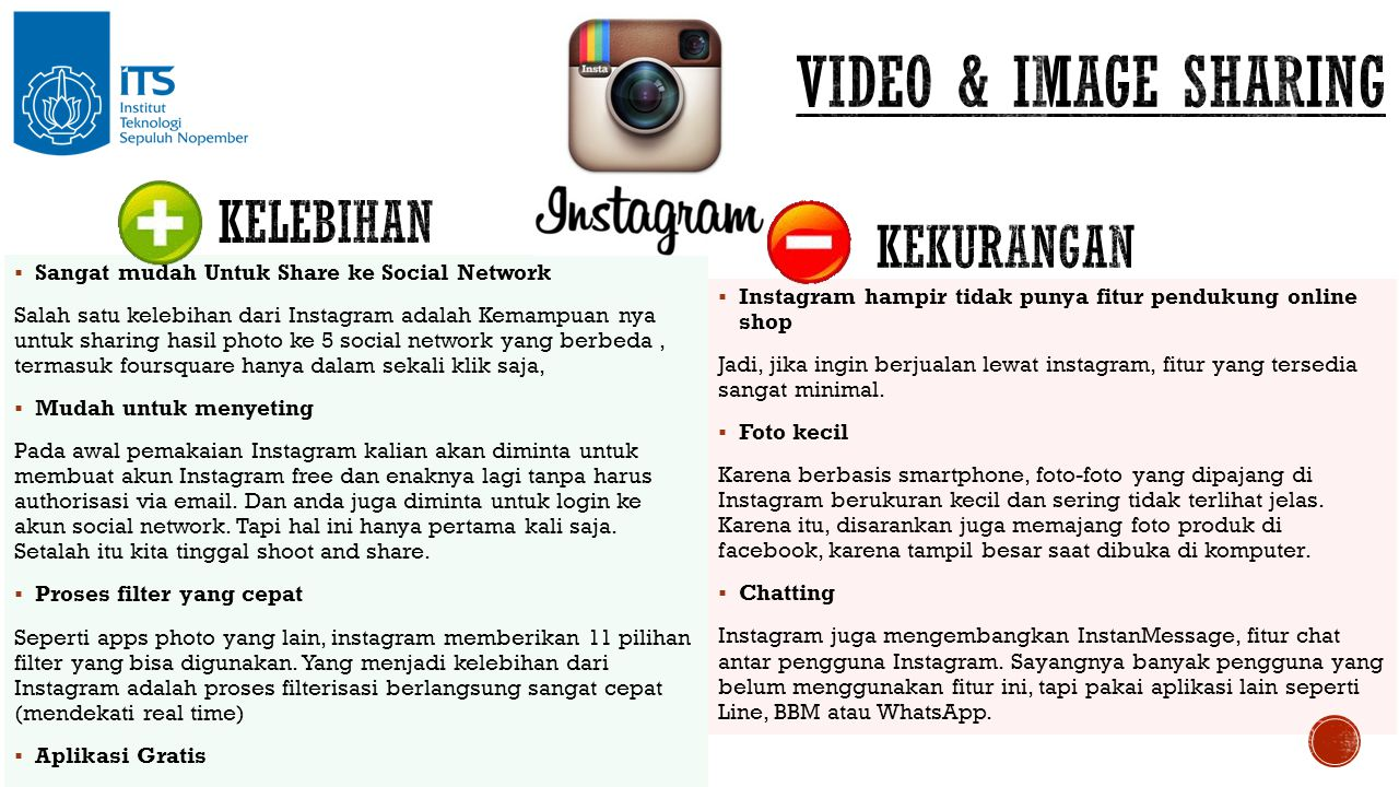  Sangat mudah Untuk Share ke Social Network Salah satu kelebihan dari Instagram adalah Kemampuan nya untuk sharing hasil photo ke 5 social network ya
