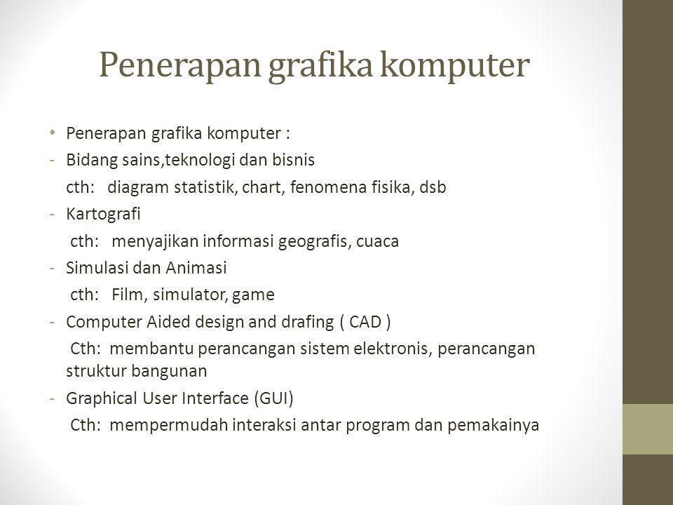 Open GL • spesifikasi standar yang mendefinisikan sebuah cross-bahasa, cross-platform API untuk menulis aplikasi yang menghasilkan komputer 2D dan 3D grafis.