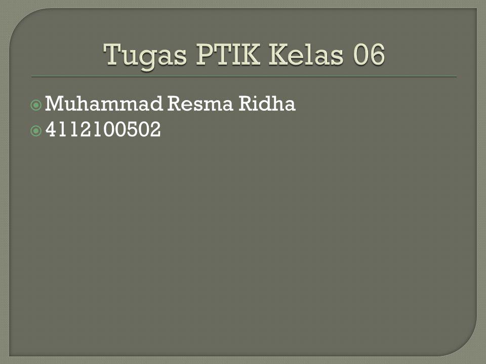  Muhammad Resma Ridha  4112100502