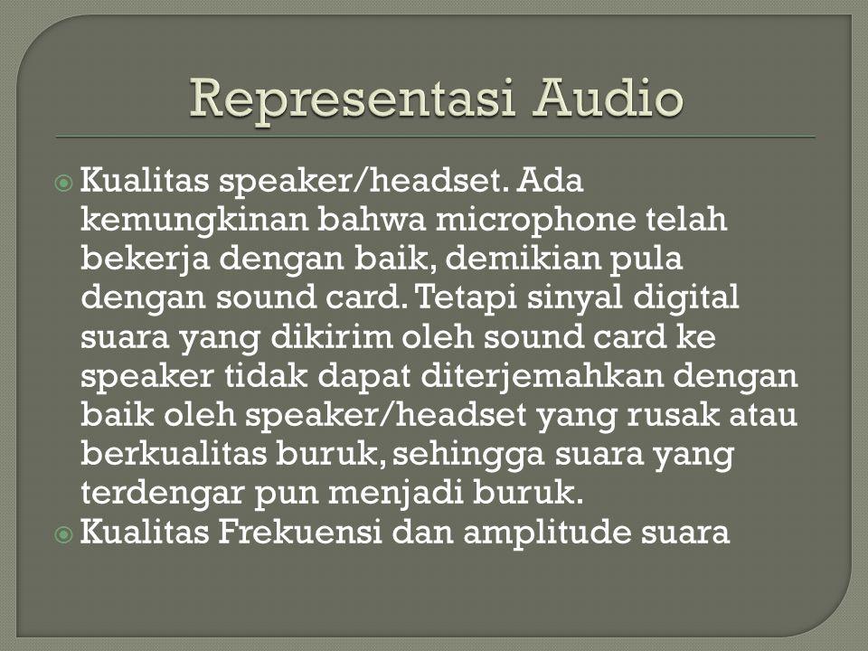  Kualitas speaker/headset.