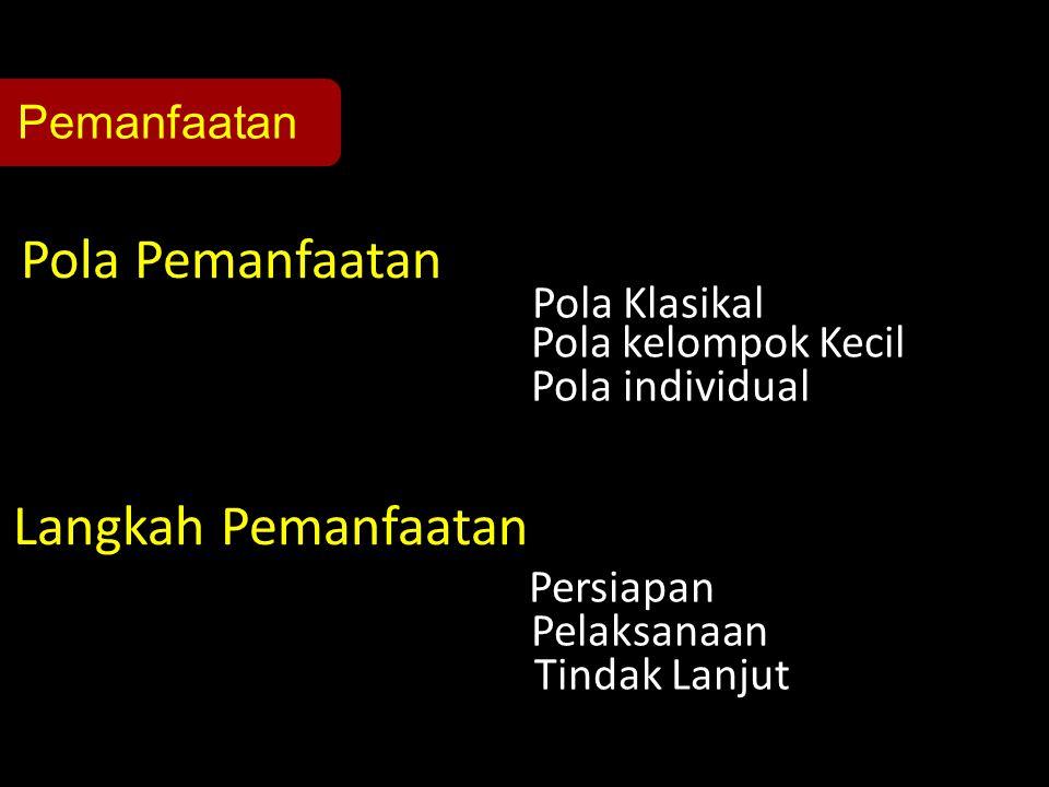 Pola Klasikal Pola yang dilakukan secara terpadu dengan kegiatan di kelas.