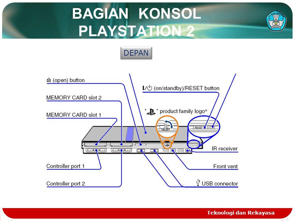 BAGIAN KONSOL PLAYSTATION 2 Teknologi dan Rekayasa DEPAN