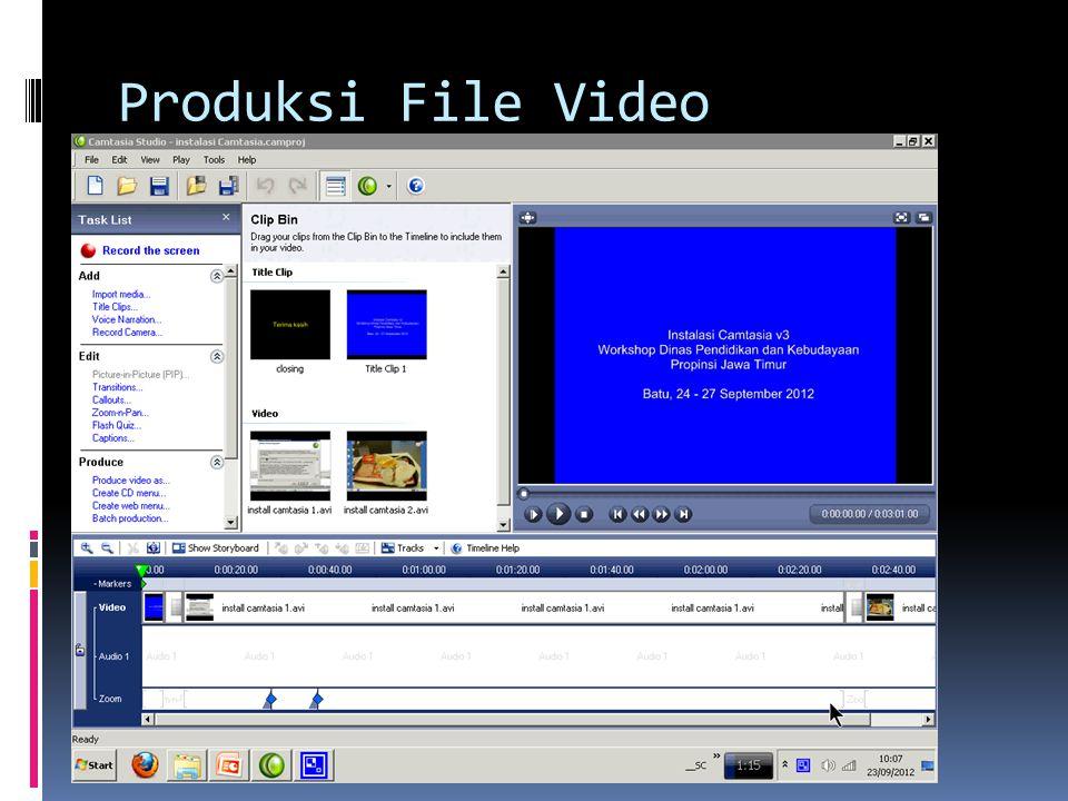 Produksi File Video