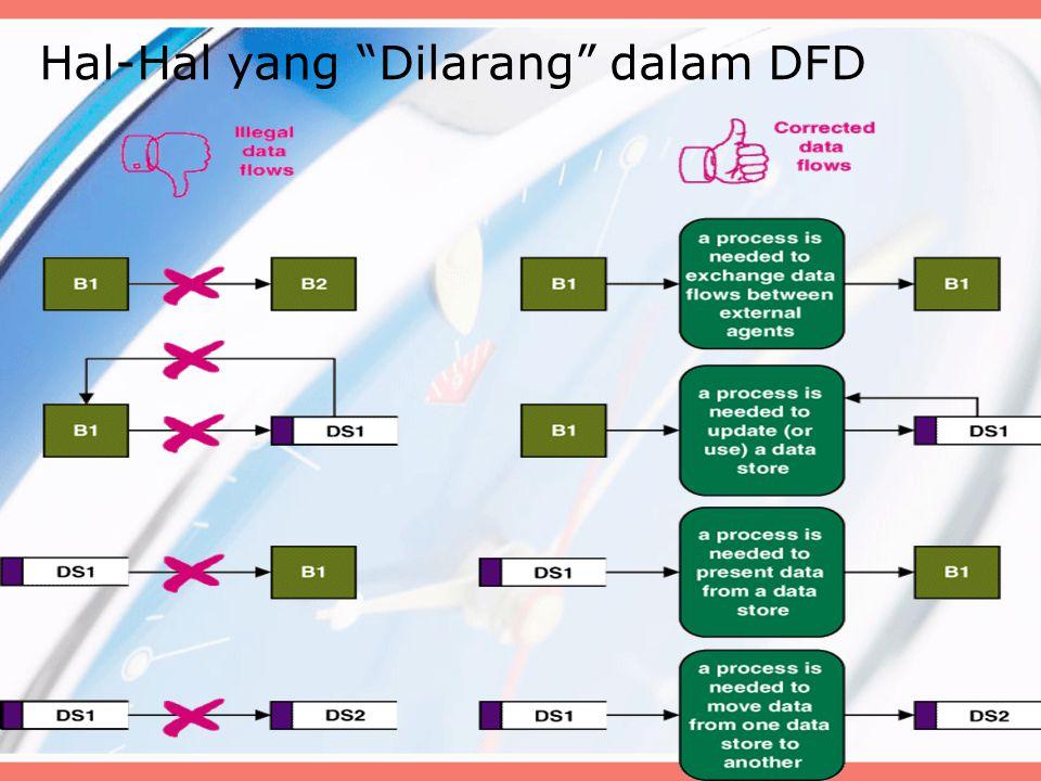 """Hal-Hal yang """"Dilarang"""" dalam DFD"""