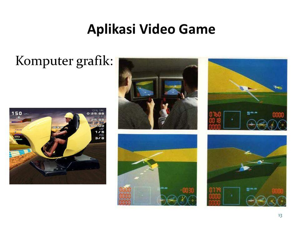 Aplikasi Video Game 13 Komputer grafik: