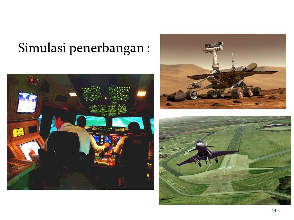 14 Simulasi penerbangan :