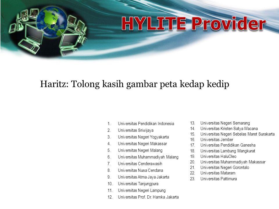1.Universitas Pendidikan Indonesia 2.Universitas Sriwijaya 3.Universitas Negeri Yogyakarta 4.Universitas Negeri Makassar 5.Universitas Negeri Malang 6