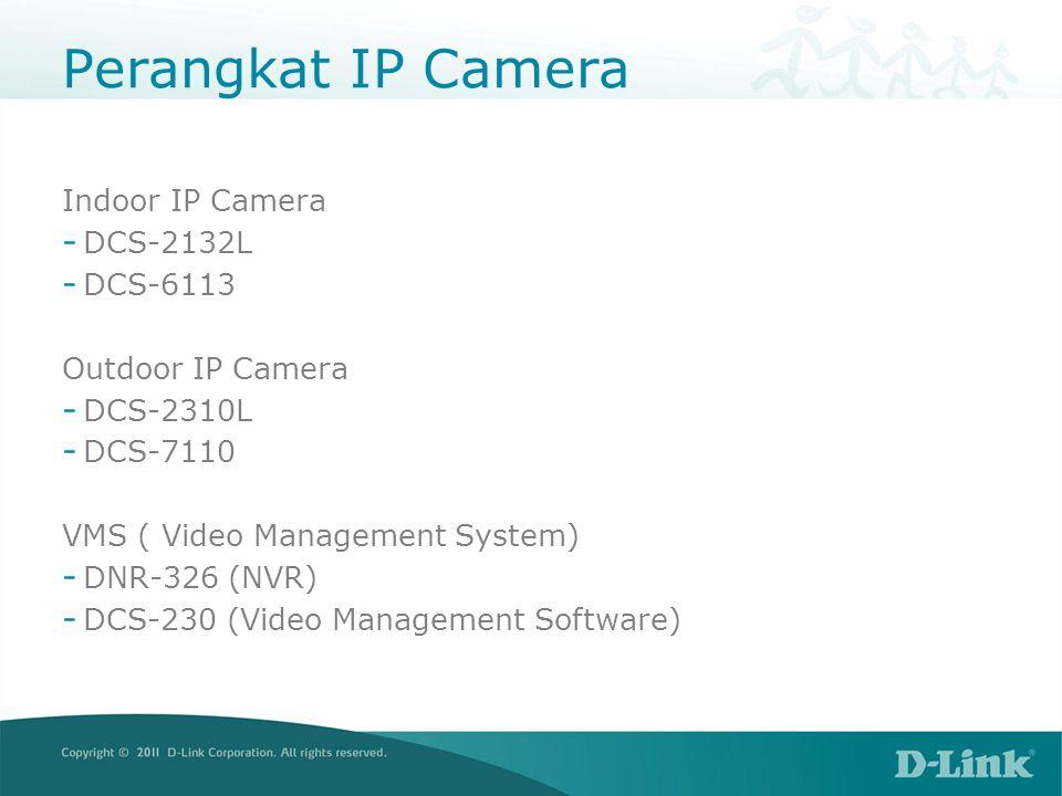 Indoor Camera DCS-2132LSpesifikasi 10/100 BASE- TX Fast Ethernet 802.11b/g/n WLAN Video CODEC: H.264, MJPEG, MPEG HD resolution: 1280x720 (max 1280x800) Lensa: Focal length: 3.45mm F2.0 Sensor: ¼ Megapixel CMOS sensor Minimum Illumination: • 1 lux @ F2.0 • 0 lux with IR LED 5Meter Slot MicroSD 10x digital zoom Motion Detection