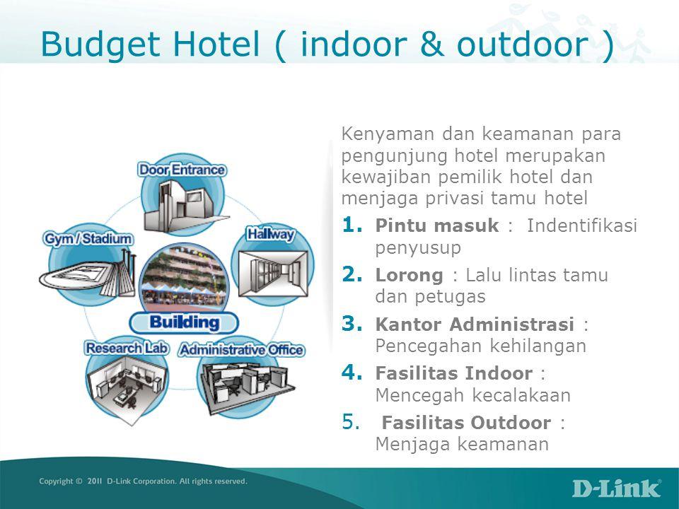 Budget Hotel ( indoor & outdoor ) Kenyaman dan keamanan para pengunjung hotel merupakan kewajiban pemilik hotel dan menjaga privasi tamu hotel 1. Pint