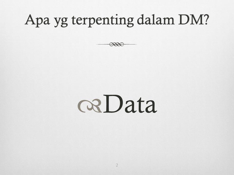 Apa yg terpenting dalam DM Apa yg terpenting dalam DM  Data 2