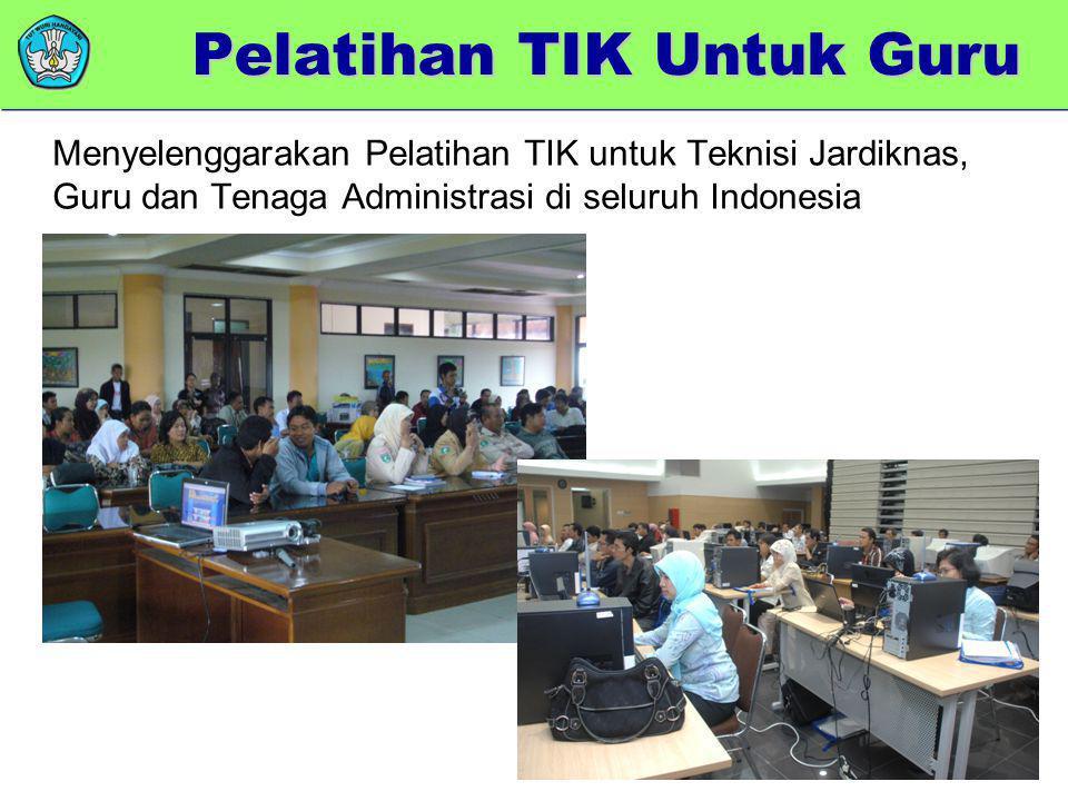 memberikan added value Menyelenggarakan Pelatihan TIK untuk Teknisi Jardiknas, Guru dan Tenaga Administrasi di seluruh Indonesia Pelatihan TIK Untuk G