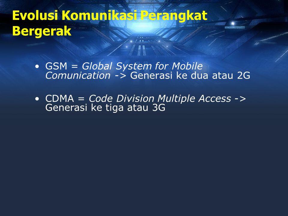 Teknologi GPRS •GPRS = General Packet Radio Service •Pengiriman data lebih cepat dibandingkan dengan penggunaan CSD (Circuit Switch Data) •Disebut juga 2.5G.