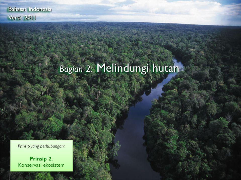 ©2009 Rainhutan Alliance Bagian 2: Melindungi hutan Bahasa: Indonesia Versi: 2011 Prinsip yang berhubungan: Prinsip 2.