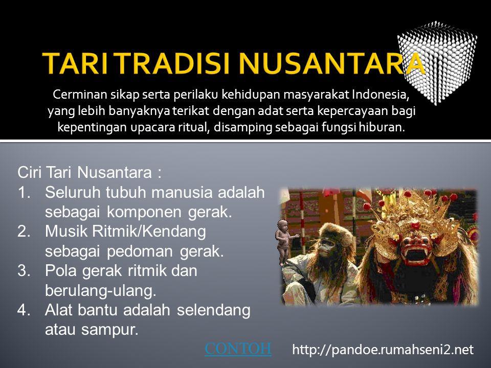Cerminan sikap serta perilaku kehidupan masyarakat Indonesia, yang lebih banyaknya terikat dengan adat serta kepercayaan bagi kepentingan upacara ritu